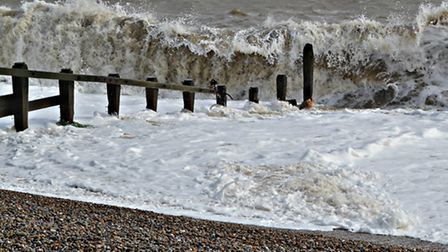 A windy day down at Aldeburgh by the Martello Tower