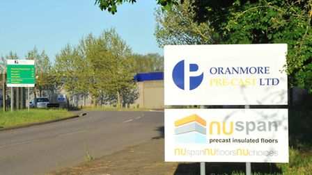 The Oranmore site at Brandon where there was a fire in one of the production areas. Photo: Simon Fin