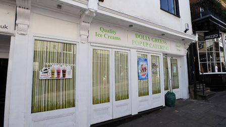 Dolly Greens Pop Up Catering in Abbeygate Street, Bury.