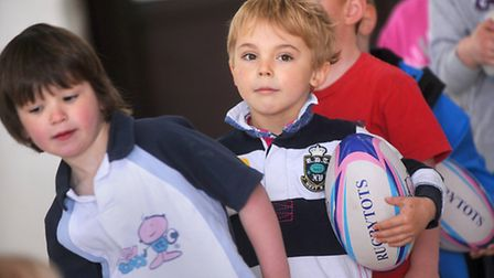 Rugbytots Suffolk gets off to a flying start at Thurston Rugby Club.