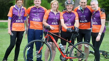 Members from the EACH bike team are using the Santon Downham event to warm up for their London to P