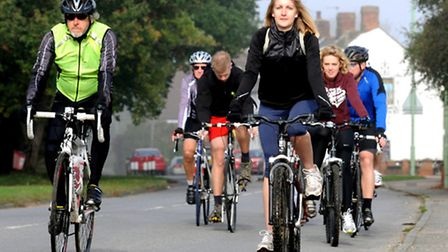 Riders taking part in the 50-mile Suffolk Help for Heroes cycle challenge last year.