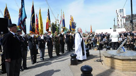 Hundreds gathered for the remembrance service of the Dunkirk Little Ships at the Haven Marina in Ips