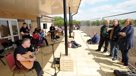The Cedars Park Community Centre open day. Nobody's Perfect entertains the crowd.