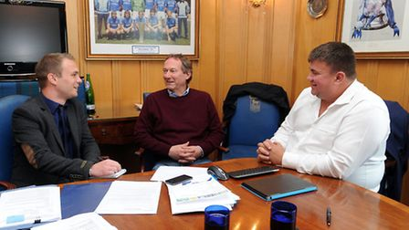 Ipswich Town Football Club managing directors, Jonathan Symonds (right) and Ian Milne are pictured a