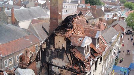 Cupola House following the fire