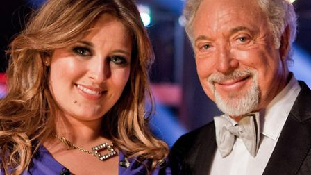 Leanne Mitchell with mentor Sir Tom Jones.