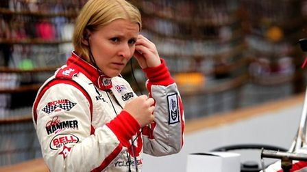 Suffolk's Pippa Mann at the 2013 Indy 500 race