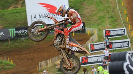 Ipswich motocross star Jake Nicholls in action at the French GP. Photo: Blocky Pics