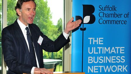 Lord Stephen Green, Minister of State for Trade and Investment, speaking Suffolk Chamber of Commerc