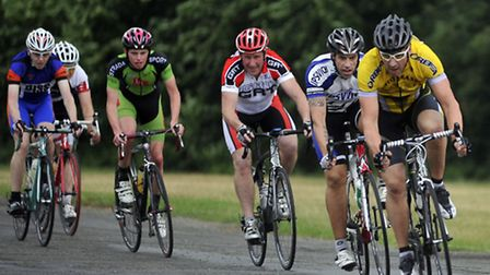 Cyclists make their way around the course during the Ipswich Cycle Series week three race at Trinity