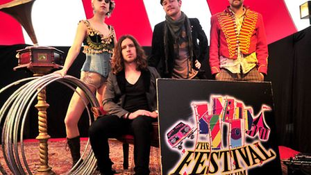 Daisy and Alex of Gossamer Thread's Vaudeville Co, Benjamin Bloom and JJ of Festival Asylum. Picture
