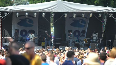 Thousands of people flocked to Ipswich's Christchurch Park for Music in the Park 2013; Revellers enj