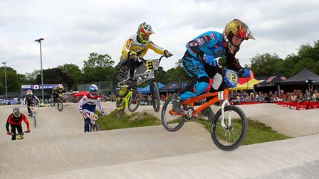 Bmx racing at the British Bmx Series RDs 6+7 at Manchester 29/30.06.13 Lee Golder (2) 7th + 4th