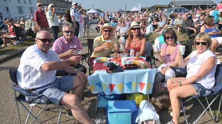 Thousands of people flocked to Aldeburgh for the 60s by the Sea concert.