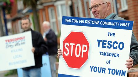 Tesco's store proposals at Walton Green, Felixstowe, have not found overwhelming support so far.