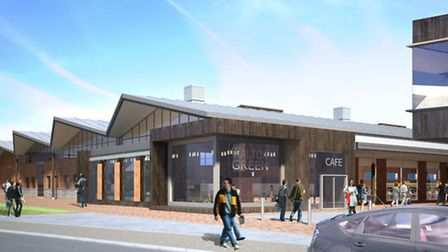 A computer-generated image of the new Tesco at Walton Green, Felixstowe.