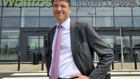 John Lewis Partnership chairman Sir Charlie Mayfield at the Ipswich Waitrose and John Lewis at home