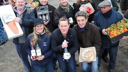 Local producers in Sudbury are to take part in a festival of food in the town. Group of participatin