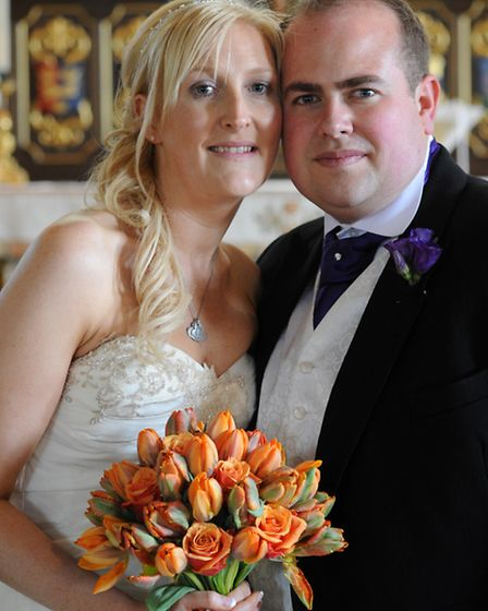 James and Charlotte Durrant on their wedding day