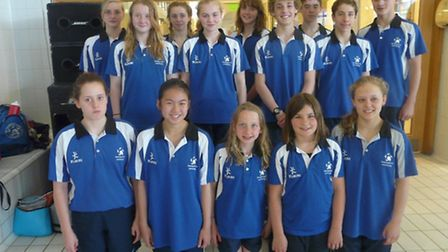 Team Ipswich swimmers who took part in the Regional championships.