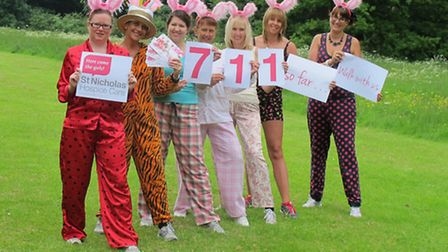 Hospice staff celebrate passing the milestone of having 700 women signed up to take part in the 2013