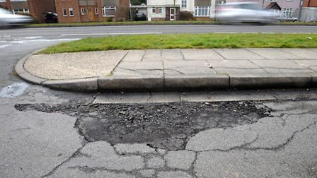 The county is spending more on repairing roads after problems with potholes.