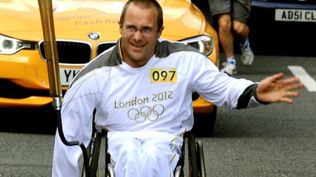 Brian Alldis on last year's Olympic Torch relay