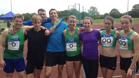 Colchester Harriers relay teams