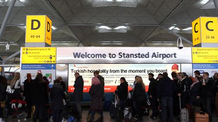 Passengers at Stansted Airport which is to get an £80million terminal redevelopment