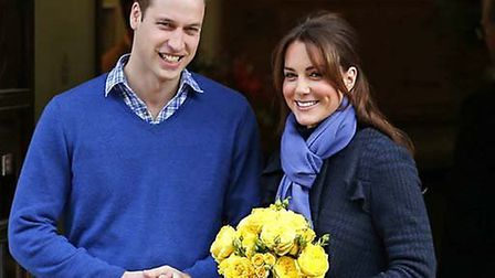 William and Kate looking forward to the arrival of their baby