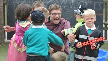 Youngsters from Melton Primary got to take their dads to school with them for the day. Dan Rowe ou