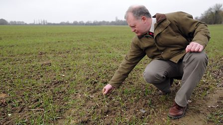 Mark Ward, a farmer and Command pest control owner is pictured in Preston St Mary.