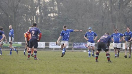Diss Saracens in action during a fine victory over Great Yarmouth and Broadland.