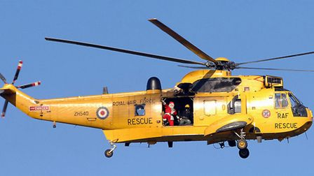 A man was resuced from mud by the RAF Sea King helicopter from Wattisham