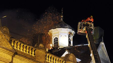 The fire at Cupola House on June 16 last year.