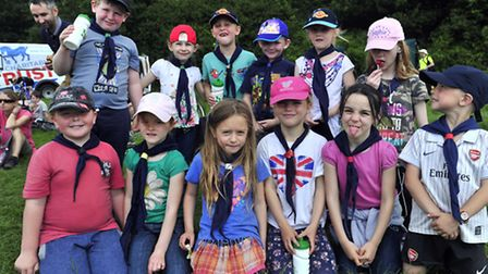 The 2013 Orwell Walk and Cycle. Members of the 2nd Ipswich Scout group Beavers