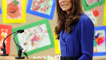 HRH The Duchess of Cambridge, Kate Middleton, visits the East Anglian Childrens Hospice in Ipswich t