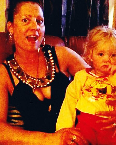 Christine Chambers and her two-year-old daughter Shania.