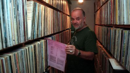 The late John Peel at his home in Great Finborough