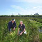 Sizewell Marshes, (Site of Special Scientific Interest). Dayne West and Alan Miller from the Suffolk