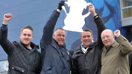 Ipswich Town supporters Sam Baker, Gordon Low, Chris Baker and Stephen Gregory say they couldn't ha