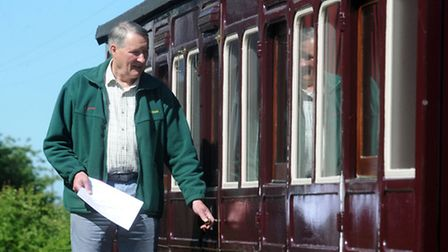 Tony Alston is pictured at The Sidings in Brockford where there are two holiday cottages in old rail