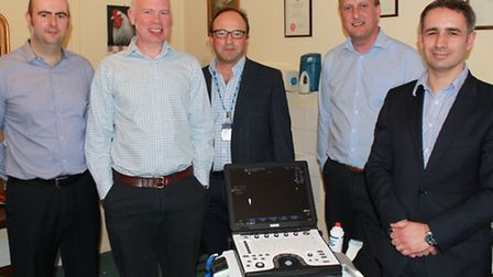 From left, Mark Newman, physiotherapist, Marc Rapkin, physiotherapist, Dr Steven Garber, consultant