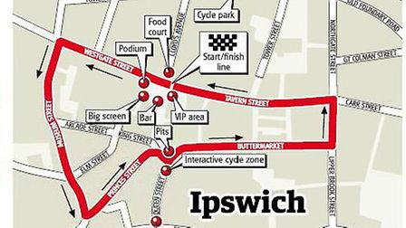 Tour series cycle route
