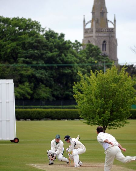 Martyn Cull batting for Copdock at Woolpit's scenic ground