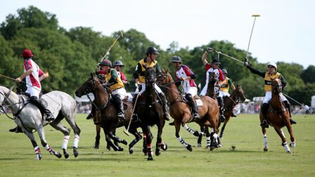 Young England and Australia teams go head ot head in first international polo event in Suffolk in 20