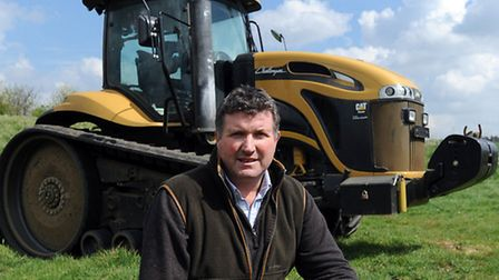Robert Baker is pictured at Crossways Farm, Elmswell