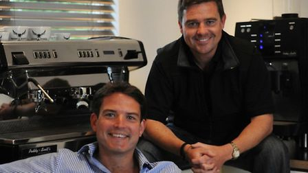 Paddy Bishopp and Scott Russell, the founders of coffee company Paddy & Scott's