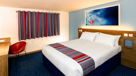 An example of Travelodge's new-look rooms, at its Southwark hotel in London